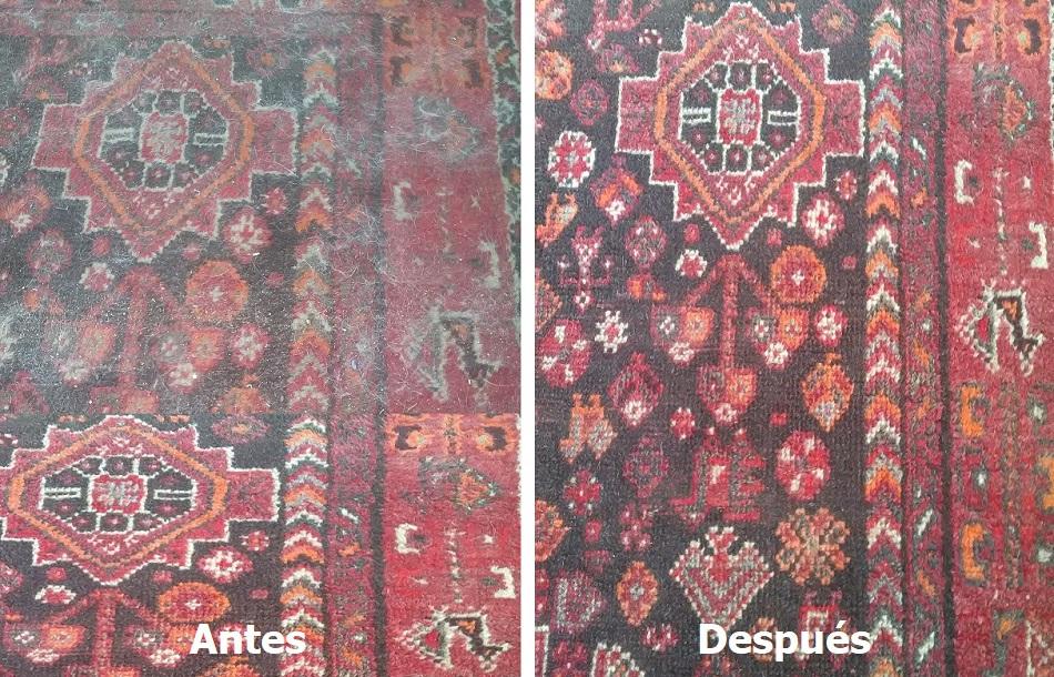 Limpieza de alfombra oriental