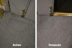 Limpieza de moqueta en vivienda