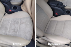 Limpieza de tapicería de un vehículo