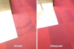 Limpieza de moqueta en un salón de juego