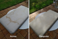 Limpieza de cojines de mueble de exterior