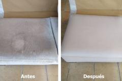Limpieza de cojines de un sofá