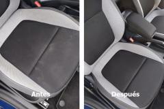 Limpieza de tapicería de un coche